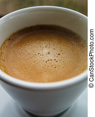 Close-up of coffe in coffee cup