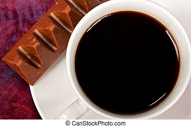 Close-up of coffee and chocolate