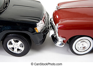 collectible car - close up of collectible car over white...