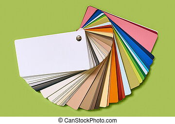 Close-up of color palette guide for furniture isolated on...