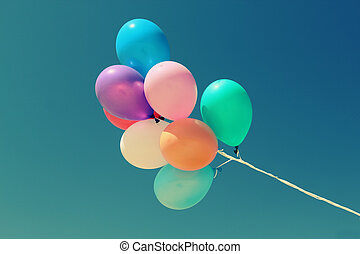close up of colorful baloons