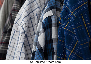 Close-up of colorful shirts