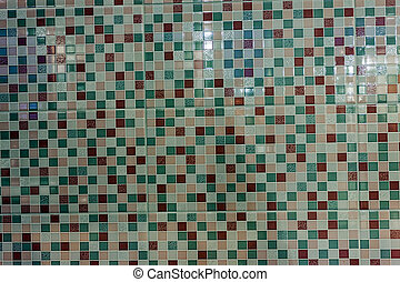 Close up of colorfull decorated ceramic tiles