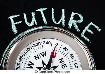 Compass With Future Text