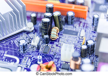Close-up of computer motherboard