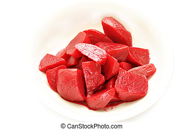 Cooked Cut Beets in a Bowl