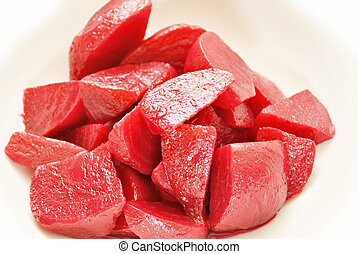 Close-Up of Cooked Cut Beets in a Bowl