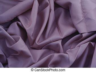 close-up of creased purple satin
