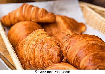 Close-up of croissant bread