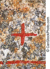 Close up of cross sign from an ancient runestone