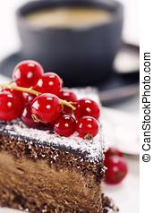 coffee and chocolate cake