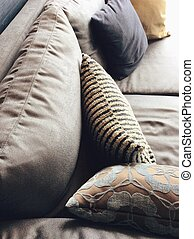 cushion in a living-room