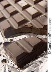 Close Up Of Dark Chocolate