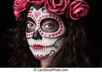 death woman face