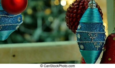 Close-up of decorated x-mas tree.