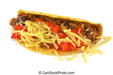 Mexican Taco - close-up of delicious Mexican Taco against...