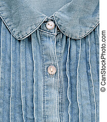 Close up of denim shirt for background