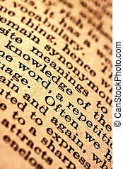Dictionary text
