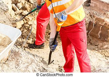 Close-up of digging