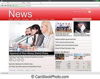 Close-up Of Digital Tablet Showing Online News