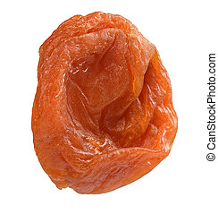 close up of dried apricot isolated