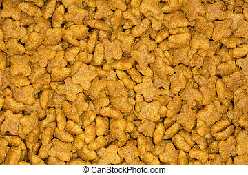 Close up of dried dog food texture