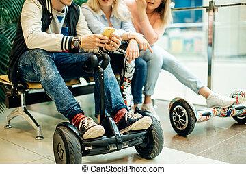 Dual Wheel Self Balancing Electric Skateboard Smart