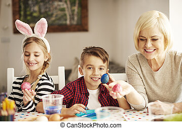 Close up of Easter traditions