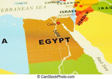 Egypt on map