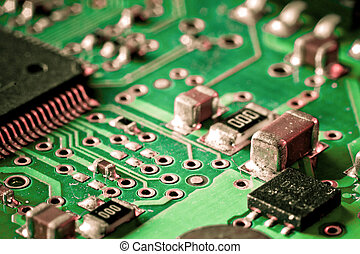 electronic circuit board - close up of electronic circuit ...