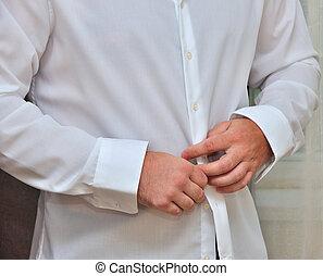 Close-up of elegance man hands