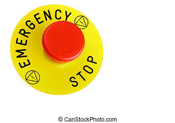 Emergency Button Isolated On White