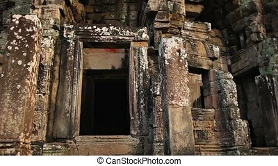 Close-up of Entrance to Bayon Temple, Cambodia - 1920x1080...