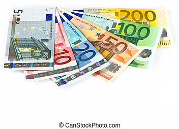 close up of euro currency