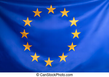 Close-up Of European Union Flag
