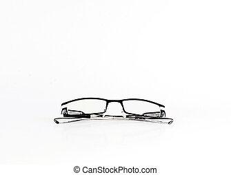 Close up of Eyeglasses Isolated on white background