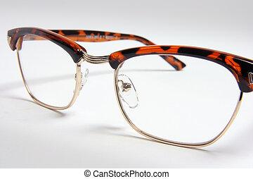 Close Up of Eyeglasses on Seamless Background