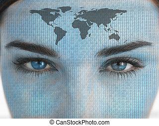 Close up of eyes