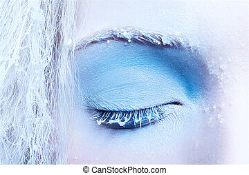 close-up of fantasy make-up