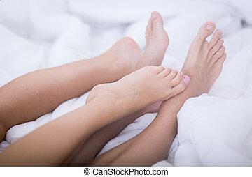 Close-up of feet