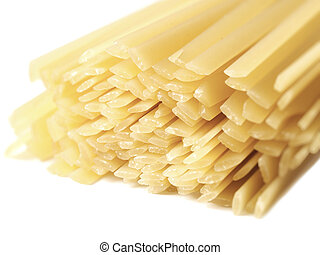 fettuccine pasta - close up of fettuccine pasta isolated