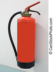 Close-up Of Fire Extinguisher - Close-up Of Red Fire...