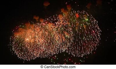 close-up of fireworks