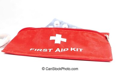 Close up of first aid kits