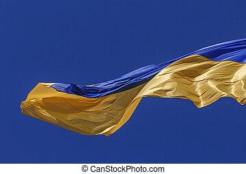 close up of flag of Ukraine