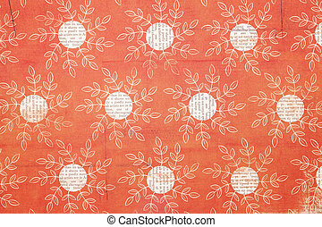 flower pattern paper - Close up of flower pattern paper,...