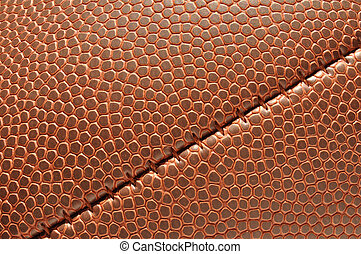 Close-up of Football Texture