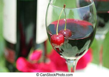 cherry and red wine