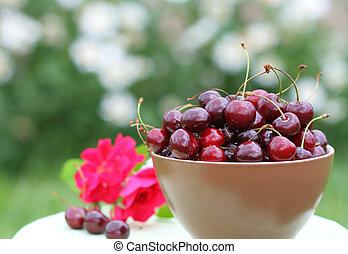 Close-up of fresh cherry