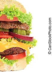 Close up of fresh hamburger.